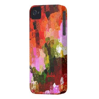 Cubierta multicolora del iphone 4 de Julia iPhone 4 Protector