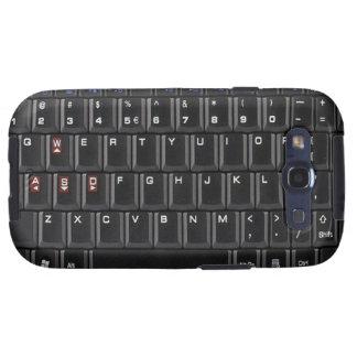 Cubierta negra de la caja del teclado de ordenador galaxy SIII fundas