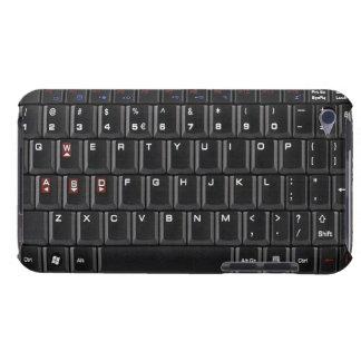 Cubierta negra de la caja del teclado de ordenador Case-Mate iPod touch coberturas
