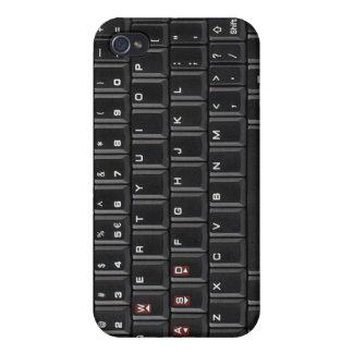 Cubierta negra del caso del iPhone 4 4s del teclad iPhone 4/4S Carcasas