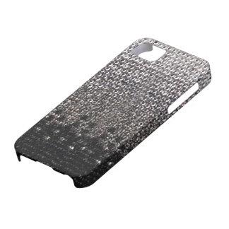 Cubierta negra y de plata del iPhone 5 del brillo iPhone 5 Case-Mate Cobertura