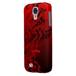 Cubierta negra y roja de Jonas para la galaxia S4 Funda Para Galaxy S4