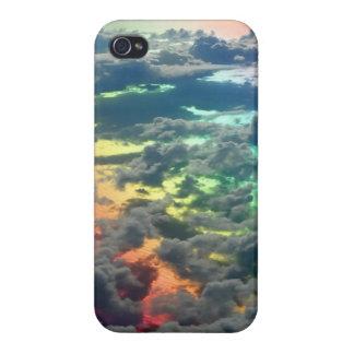 Cubierta nublada oscura del iphone de los cielos d iPhone 4 funda