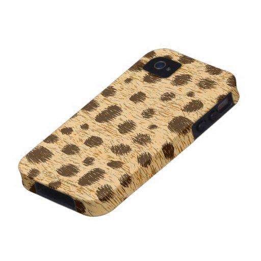 Cubierta o piel del caso del estampado de animales vibe iPhone 4 fundas