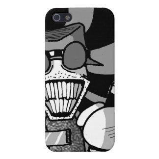 Cubierta obscurecida del iphone del dibujo animado iPhone 5 carcasa