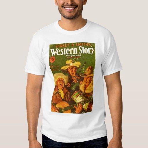 Cubierta occidental del navidad de la historia camisas
