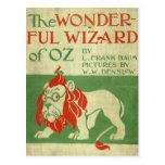 Cubierta original de mago de Oz Tarjetas Postales