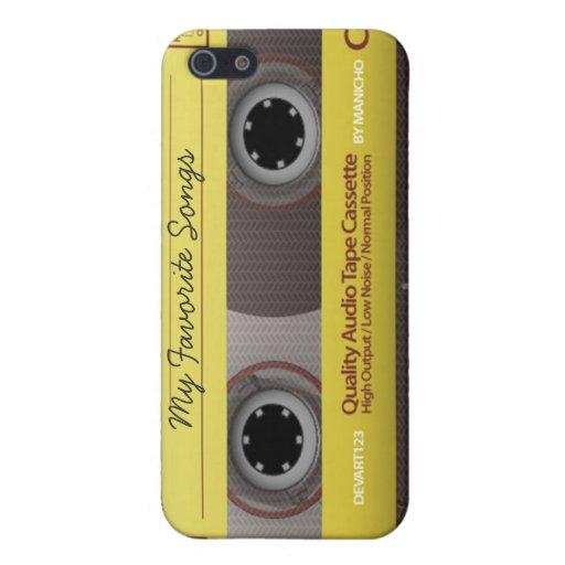 Cubierta personalizada de la caja de la cinta de c iPhone 5 carcasas