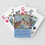 Cubierta personalizada de la foto de tarjetas su f cartas de juego