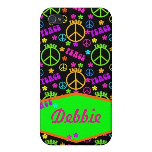Cubierta personalizada del iPhone de la paz iPhone 4/4S Fundas