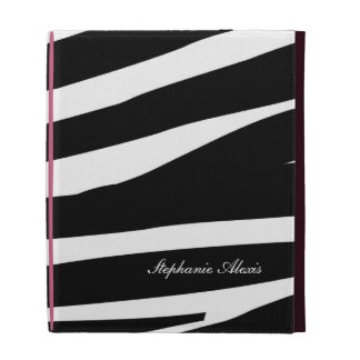 Cubierta personalizada estampado de zebra blanco n