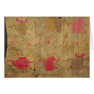Cubierta peruana; algodón y vicuña brochados tarjeta de felicitación
