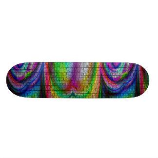 cubierta psicodélica del arco iris tabla de skate