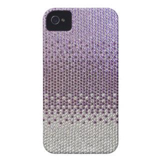Cubierta púrpura de Bling del brillo iPhone 4 Case-Mate Protectores