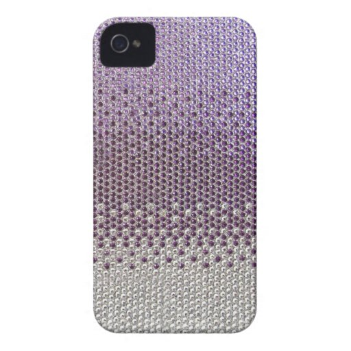 Cubierta púrpura de Bling del brillo Case-Mate iPhone 4 Cárcasas