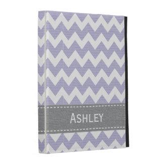 Cubierta púrpura de la caja del folio del iPad de