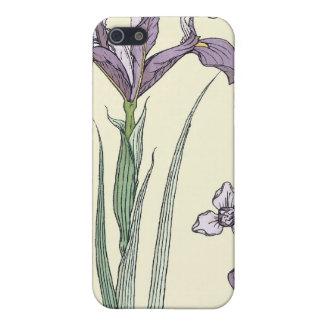 Cubierta púrpura del iPhone del iris de Nouveau de iPhone 5 Cárcasas