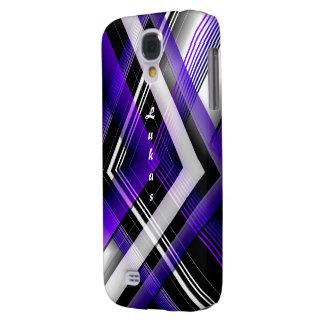 Cubierta púrpura y blanca de la galaxia s4 de funda samsung s4