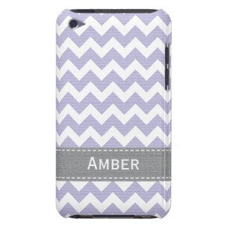 Cubierta púrpura y gris del caso del tacto 4g de iPod Case-Mate protector