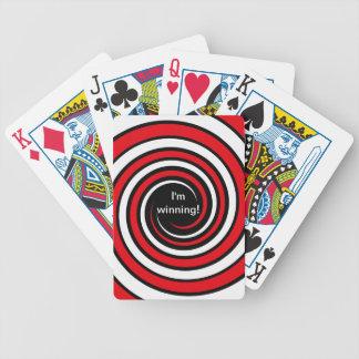 Cubierta que gana de tarjetas de giro cartas de juego