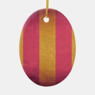 Cubierta rayada de la silla de cubierta de la lona adorno navideño ovalado de cerámica