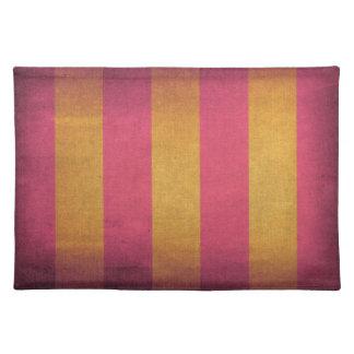 Cubierta rayada de la silla de cubierta de la lona manteles