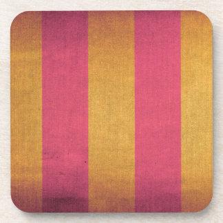 Cubierta rayada de la silla de cubierta de la lona posavaso