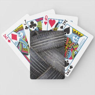 Cubierta reciclada de los neumáticos de tarjetas cartas de juego