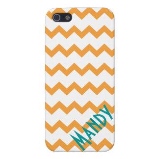 cubierta retra anaranjada del caso del iphone 5 iPhone 5 fundas