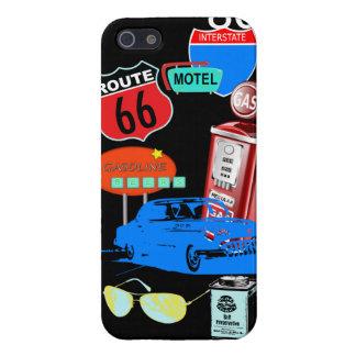 cubierta retra del caso del iphone del vintage del iPhone 5 carcasas