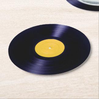 Cubierta retra del estilo de los tiempos del disco posavasos desechable redondo