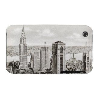 Cubierta retra del iphone del horizonte clásico de Case-Mate iPhone 3 protectores