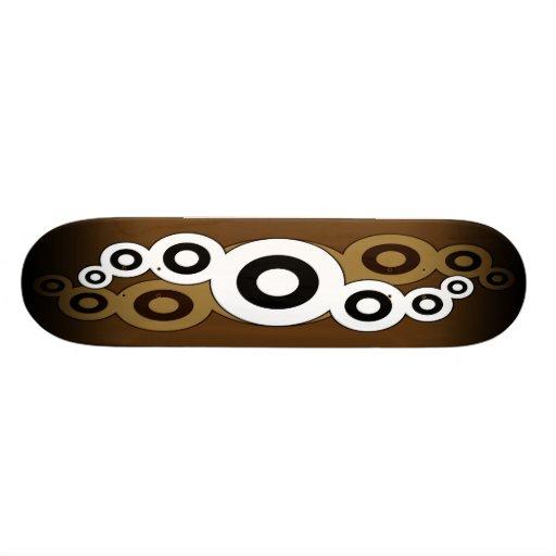 Cubierta retra del monopatín de la hélice (moreno) tabla de skate