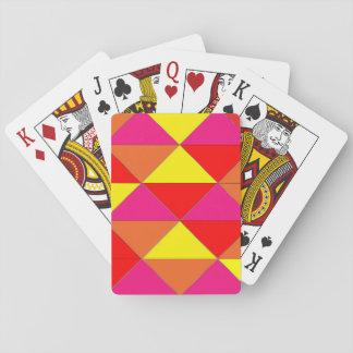 Cubierta roja brillante del rosa del amarillo anar cartas de póquer