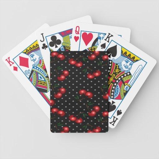 Cubierta roja de la cereza de naipes cartas de juego