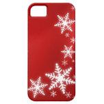 Cubierta roja del día de fiesta iPhone5 de los cop iPhone 5 Case-Mate Cobertura