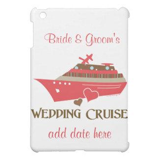 Cubierta roja del ipad de la travesía del boda