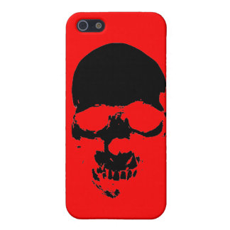 Cubierta roja del iPhone 5 del cráneo del arte pop iPhone 5 Funda