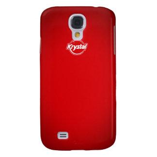 Cubierta roja del iPhone de Krystal Funda Para Galaxy S4