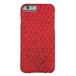 Cubierta roja del reptil de la piel de funda de iPhone 6 barely there