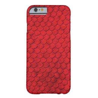 Cubierta roja del reptil de la piel de funda para iPhone 6 barely there