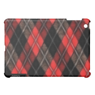 Cubierta roja y negra del iPad del fractal de Argy