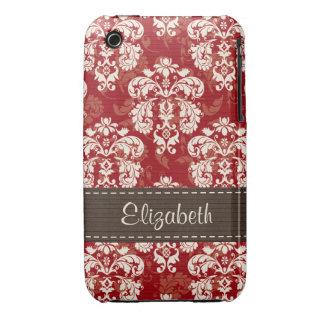 Cubierta rojo marrón de la caja de la casamata del Case-Mate iPhone 3 cárcasas