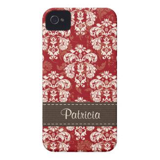 Cubierta rojo marrón del compañero del caso de 4s Case-Mate iPhone 4 cobertura