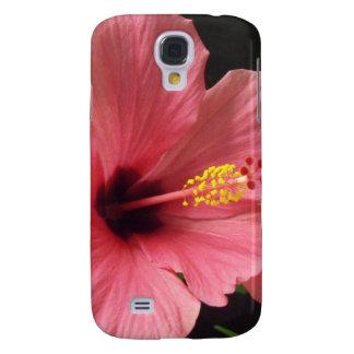 Cubierta rosada bonita del teléfono del hibisco funda para galaxy s4