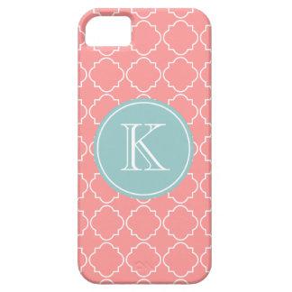 Cubierta rosada coralina del iPhone 5 del modelo iPhone 5 Funda