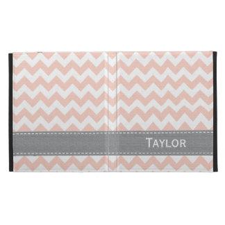Cubierta rosada de la caja del folio del iPad de C