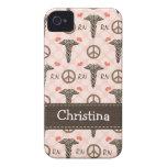 Cubierta rosada de la casamata 4s del iPhone 4 del iPhone 4 Case-Mate Protector