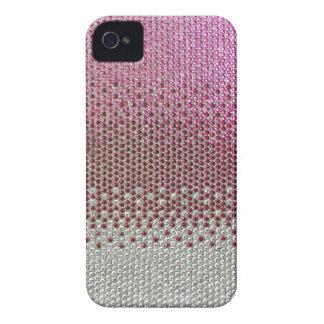 Cubierta rosada del diamante de Bling del brillo Case-Mate iPhone 4 Cobertura