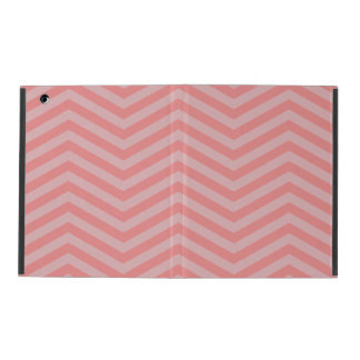 Cubierta rosada del iPad del modelo de Chevron